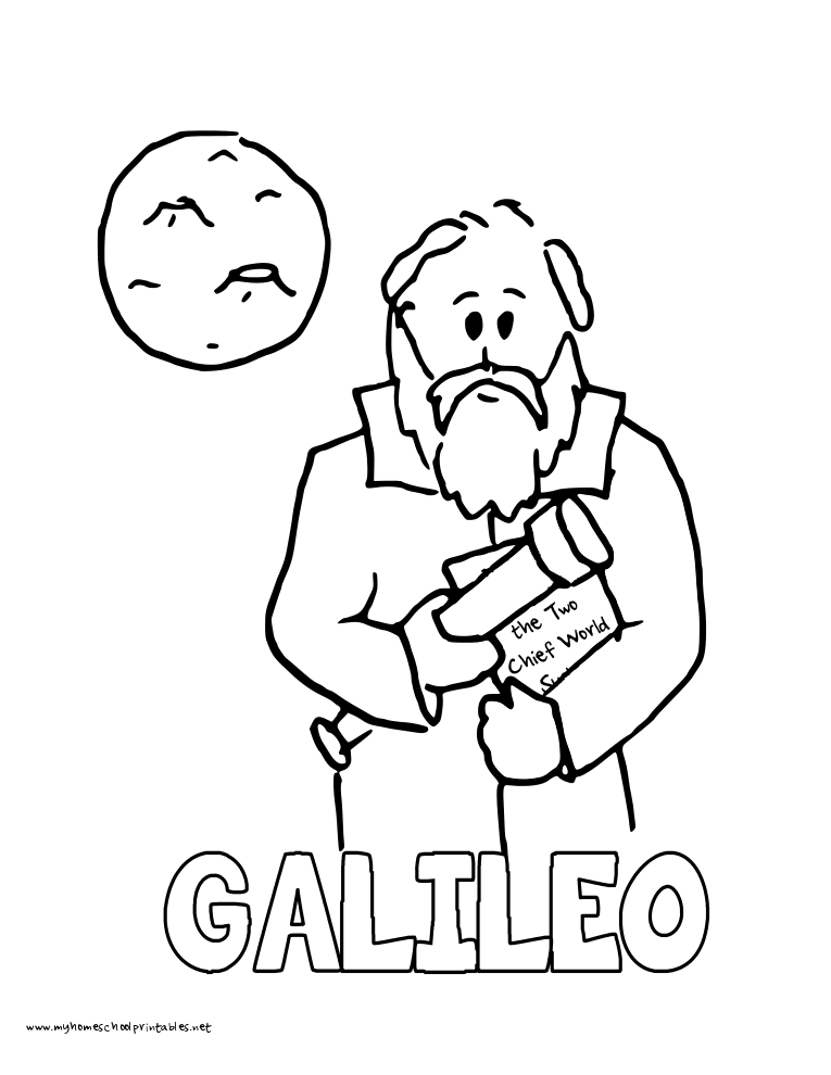 World History Coloring Pages Printables Galileo