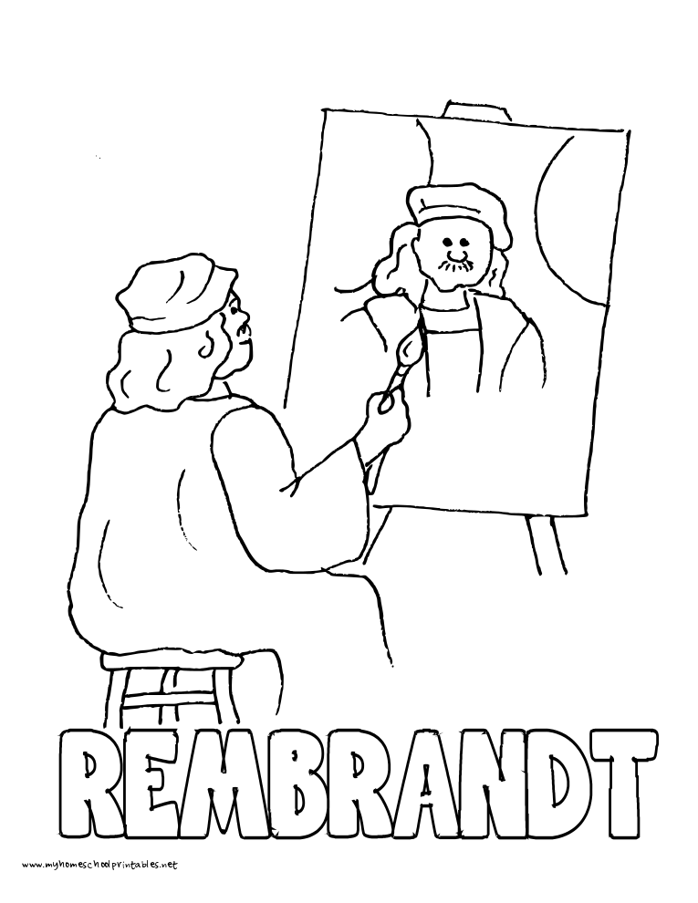 world history coloring pages printables rembrandt