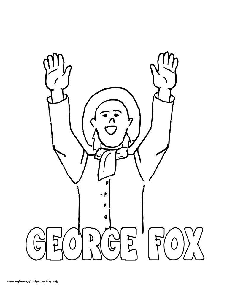 World History Coloring Pages Printables George Fox
