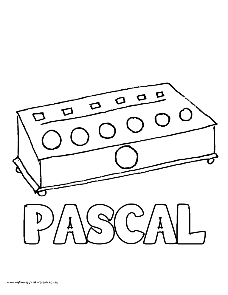 World History Coloring Pages Printables Pascal