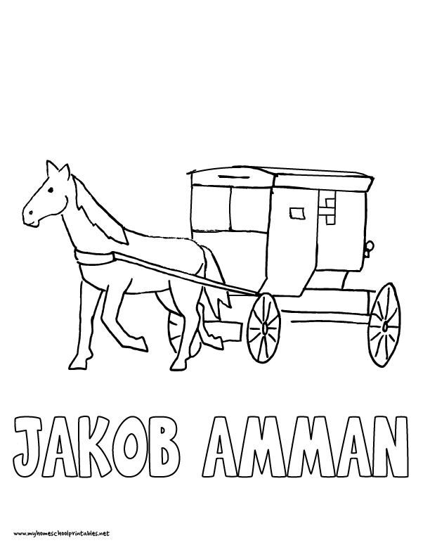 Coloring pages for kids on my Amish fiction for kids site