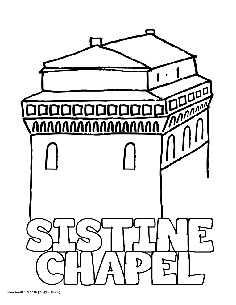 world history coloring pages printables sistine chapel