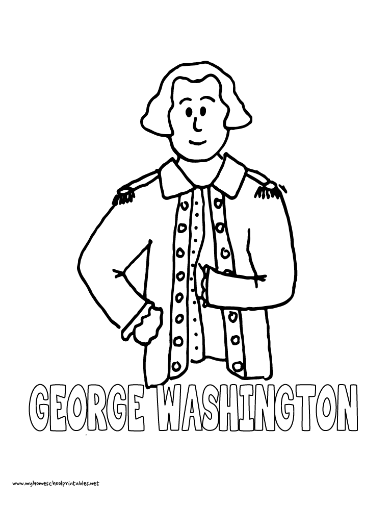 My Homeschool Printables History Coloring Pages Volume 4 Coloring Page Of George Washington