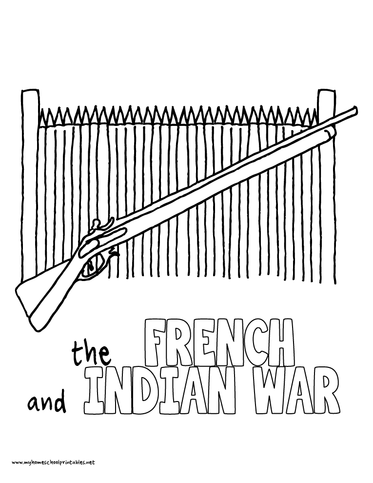World History Coloring Pages Printables the French Indian War