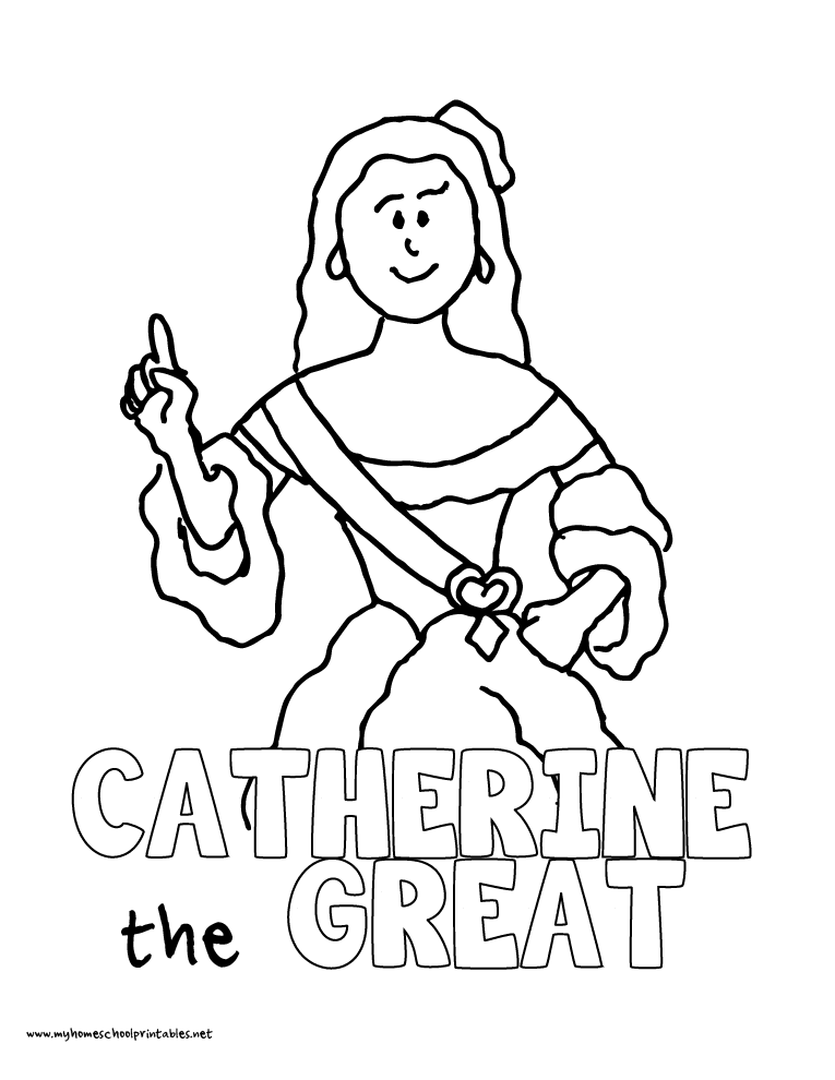 World History Coloring Pages Printables Catherine the Great