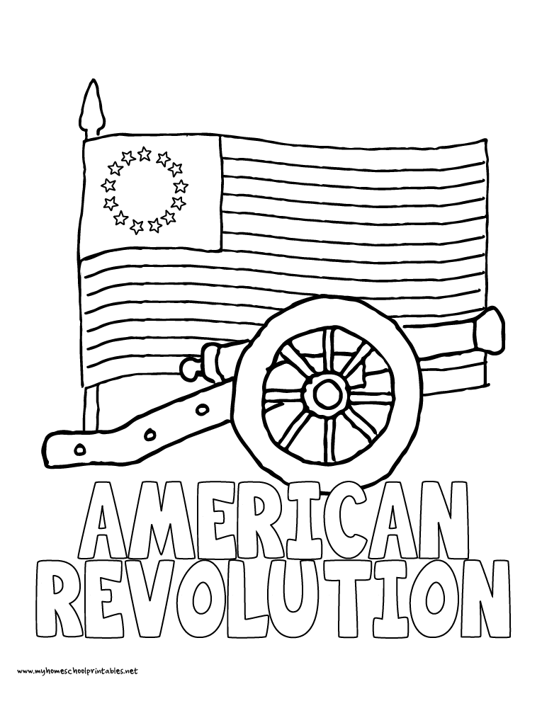 World History Coloring Pages Printables American Revolution