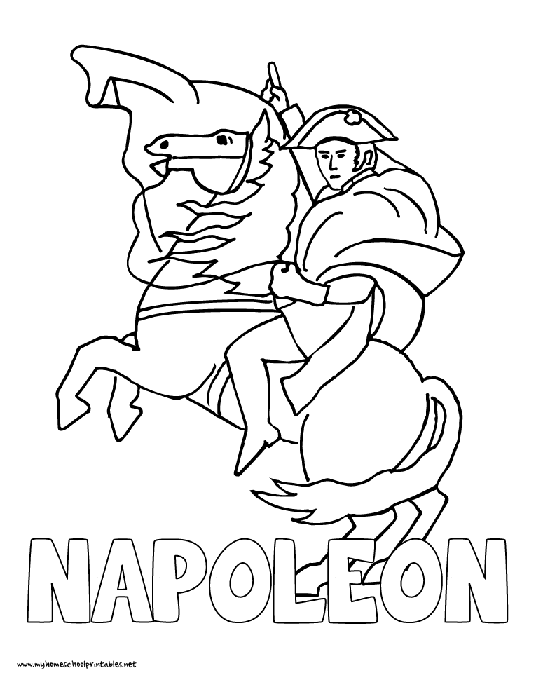 World History Coloring Pages Printables Napoleon Bonaparte