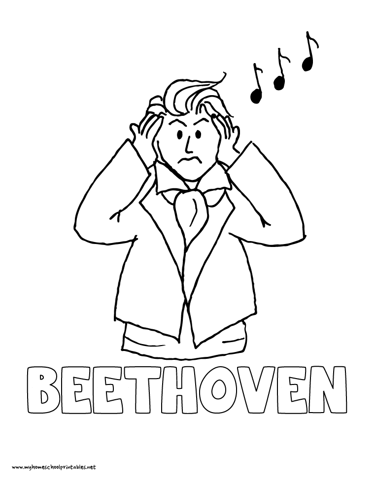world history coloring pages printables ludwig van beethoven