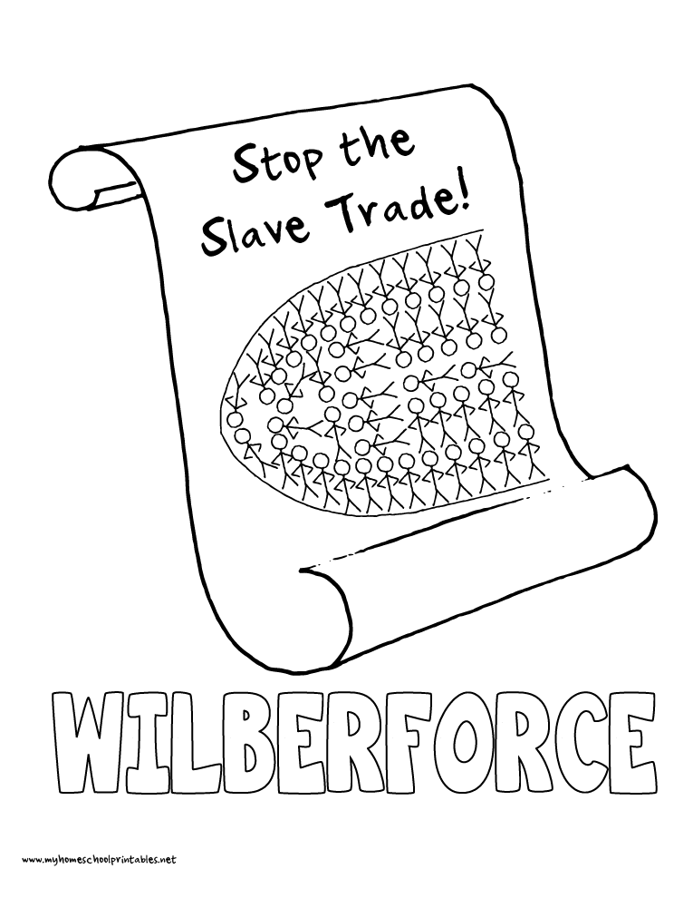 World History Coloring Pages Printables William Wilberforce