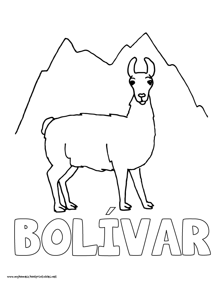 World History Coloring Pages Printables Simón Bolívar Liberates Parts of South America