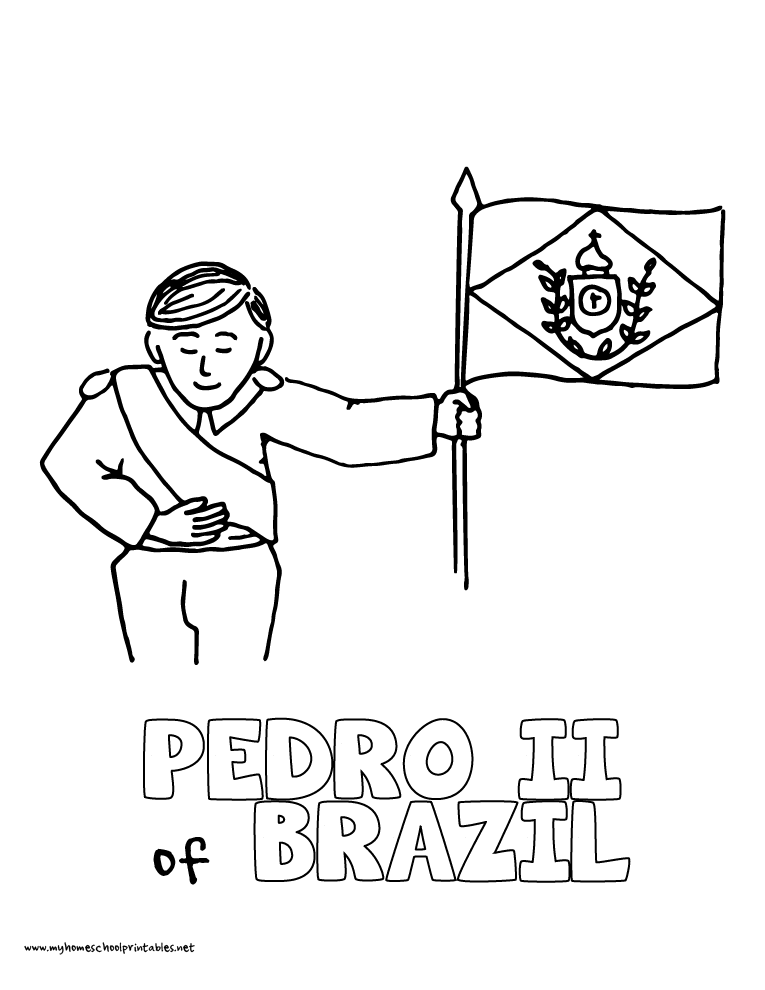 World History Coloring Pages Printables Pedro II Leads Brazil