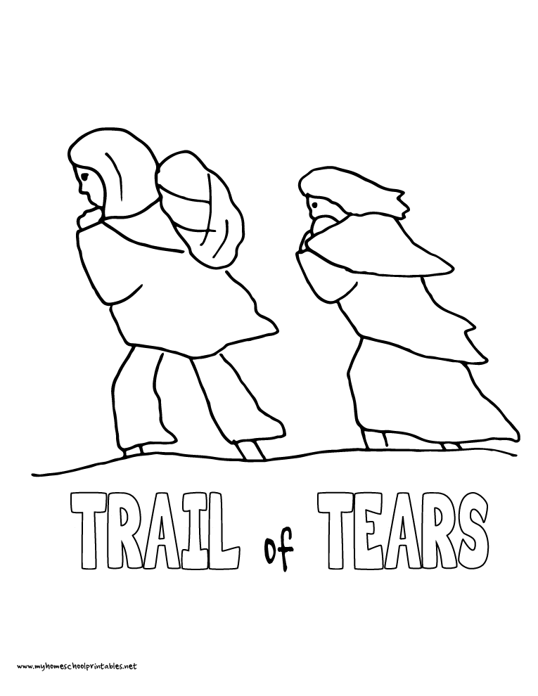Trail Of Tears Coloring Page Bltidm Trail Of Tears Coloring Page