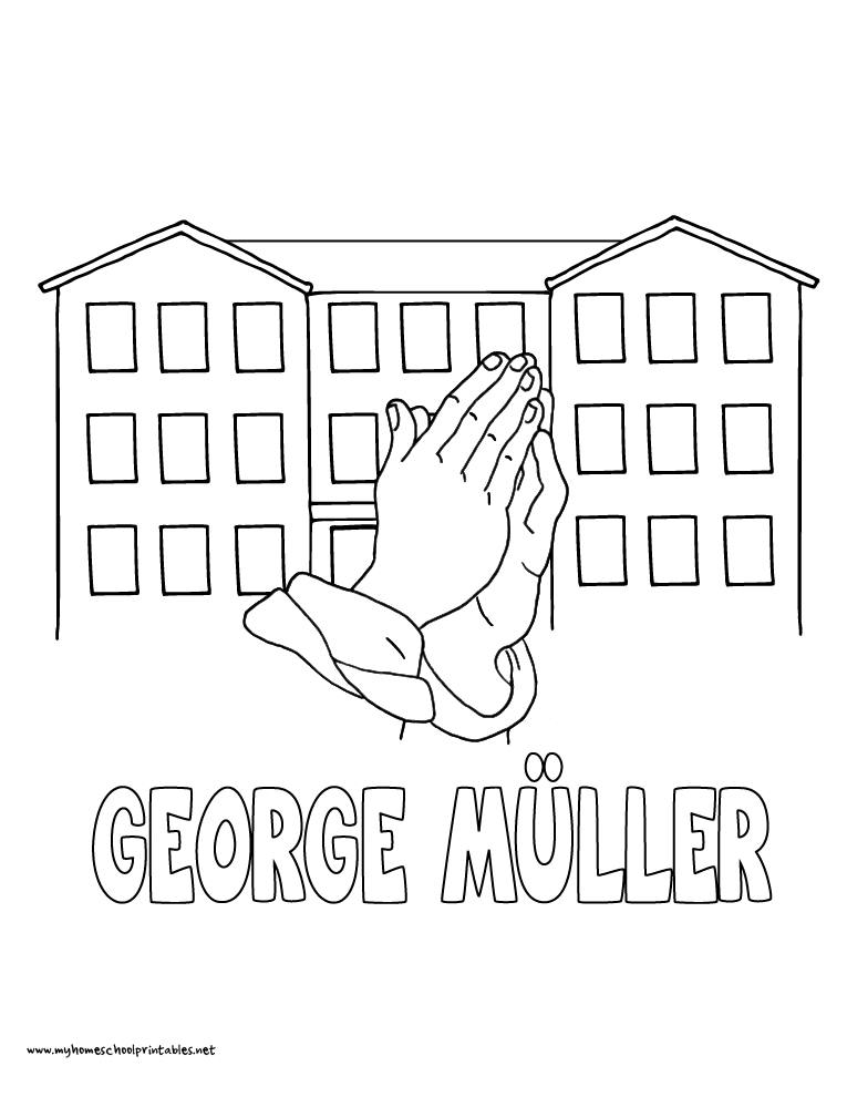 World History Coloring Pages Printables George Muller