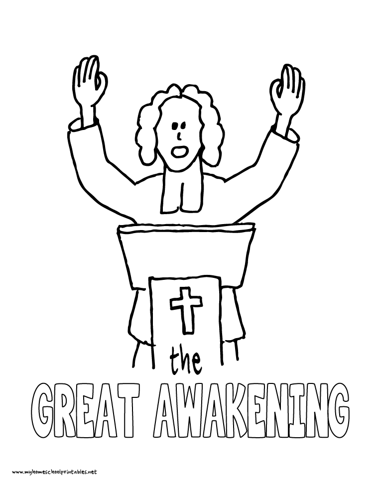 World History Coloring Pages Printables Great Awakening