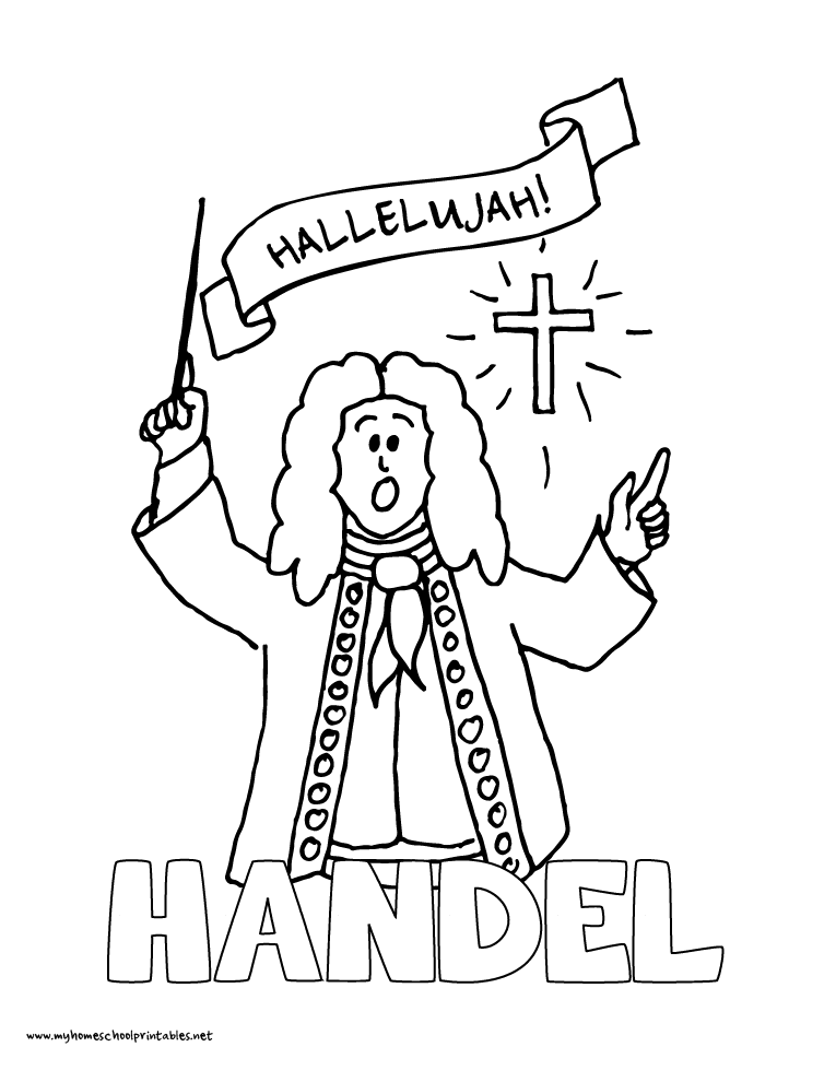 World History Coloring Pages Printables Handel
