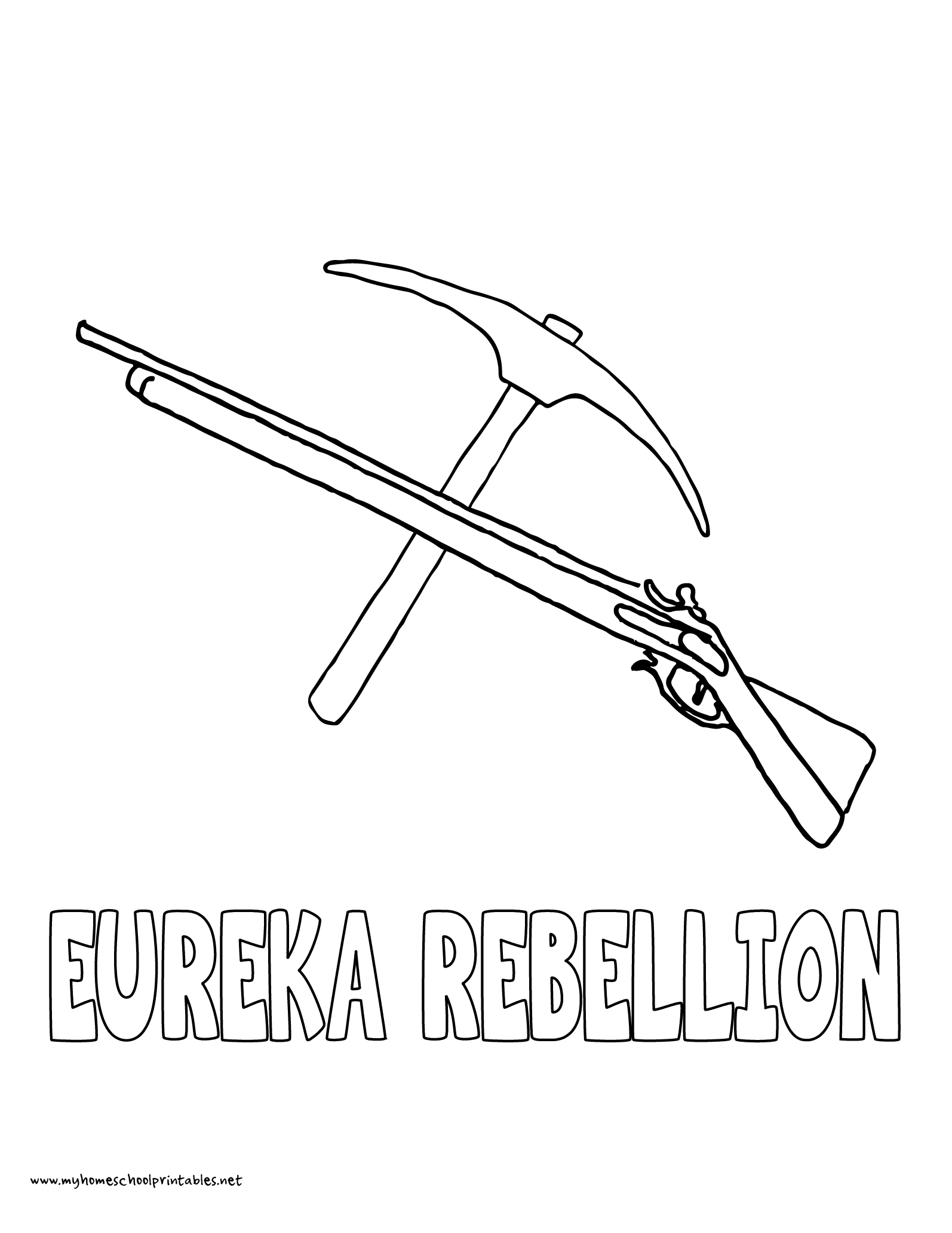 World History Coloring Pages Printables Eureka Rebellion Australia