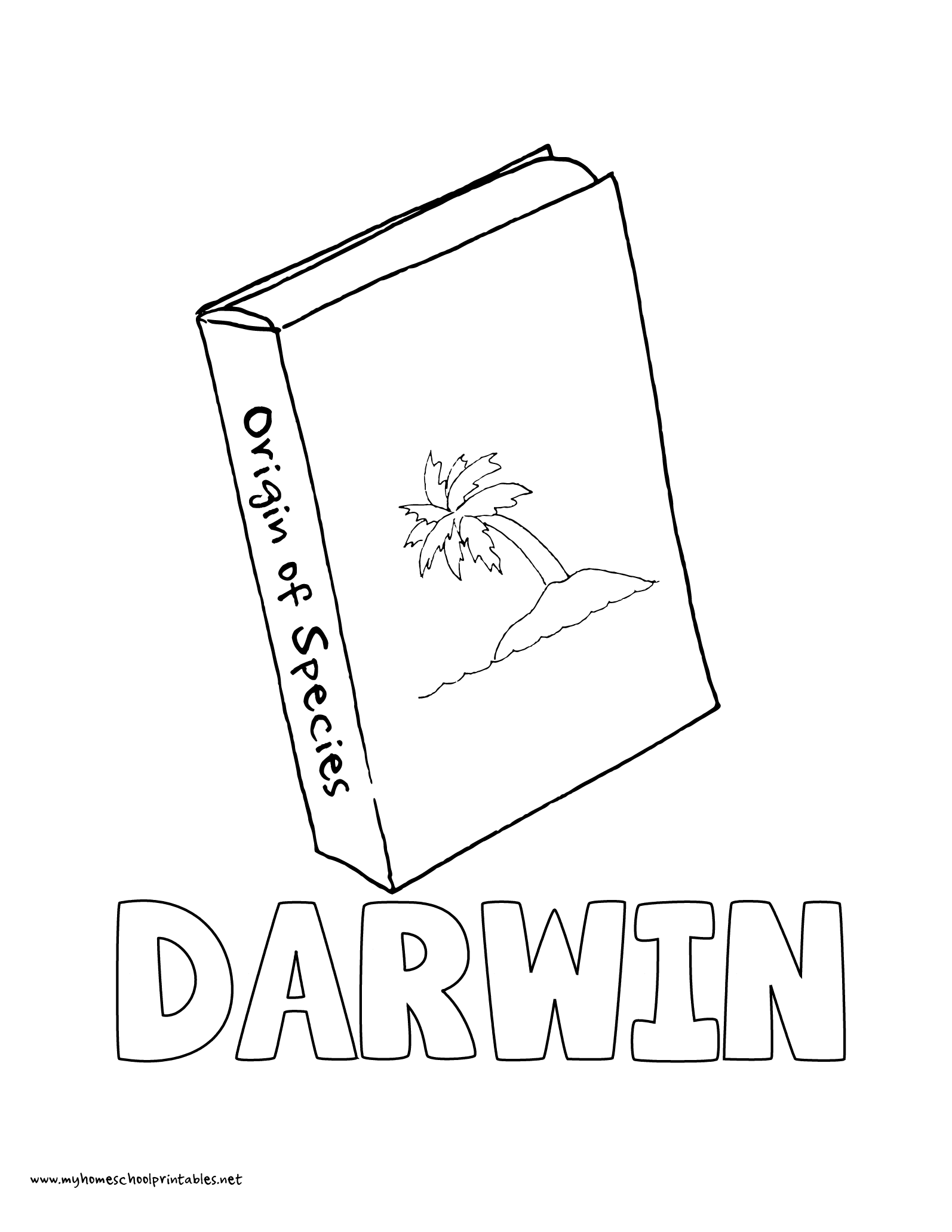 World History Coloring Pages Printables Charles Darwin Origin of Species