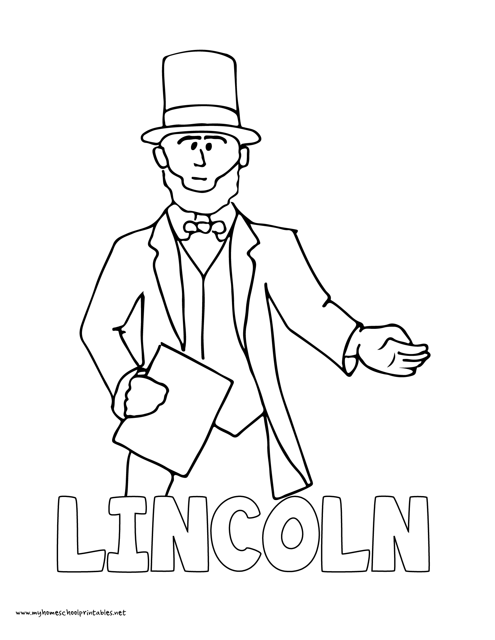 World History Coloring Pages Printables Abraham Lincoln