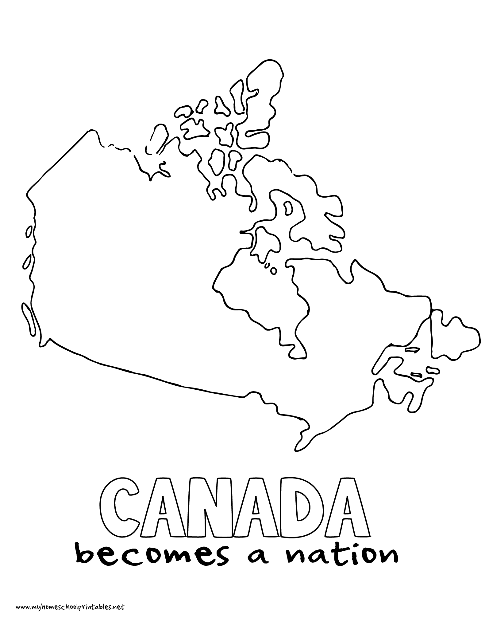 World History Coloring Pages Printables Canada Becomes a Nation