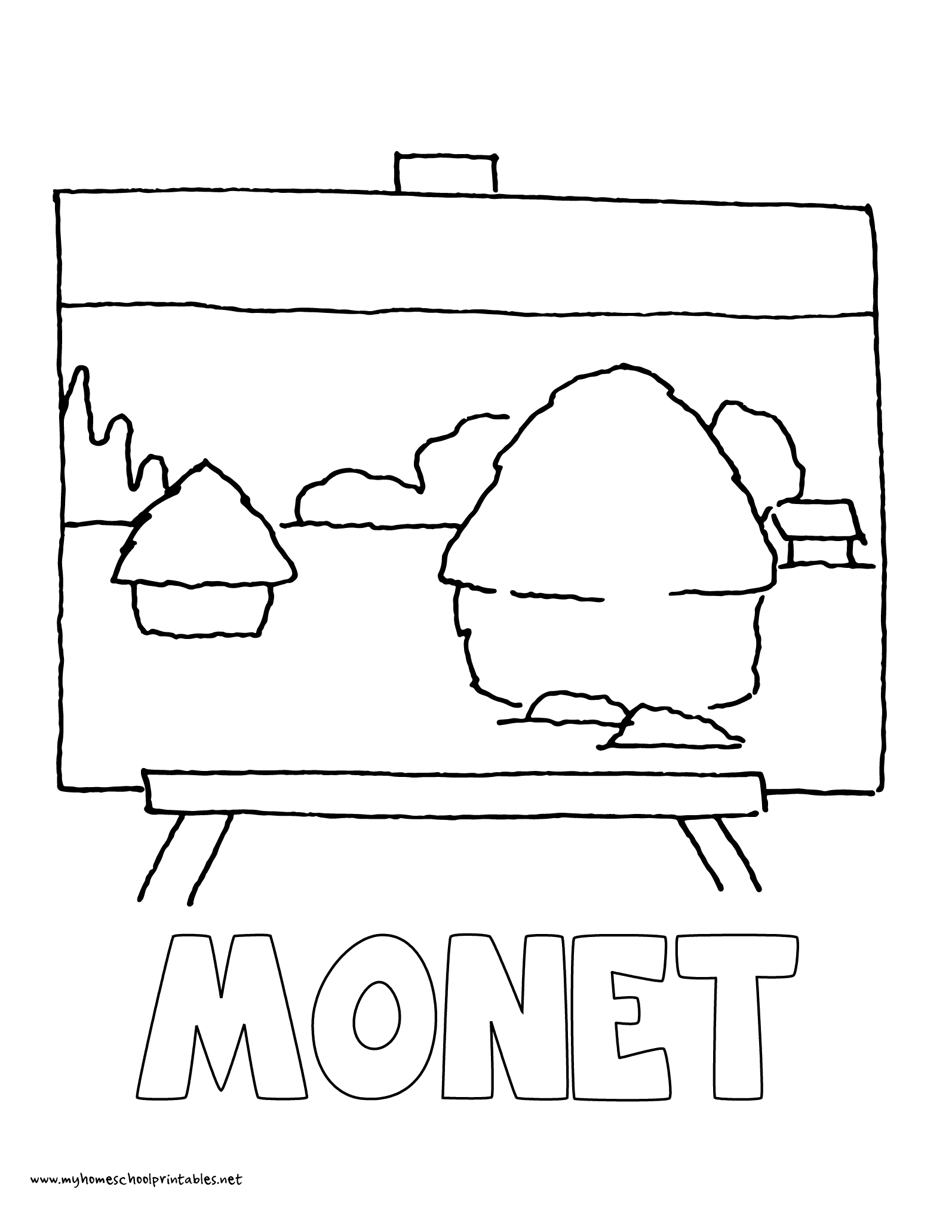 World History Coloring Pages Printables Claude Monet