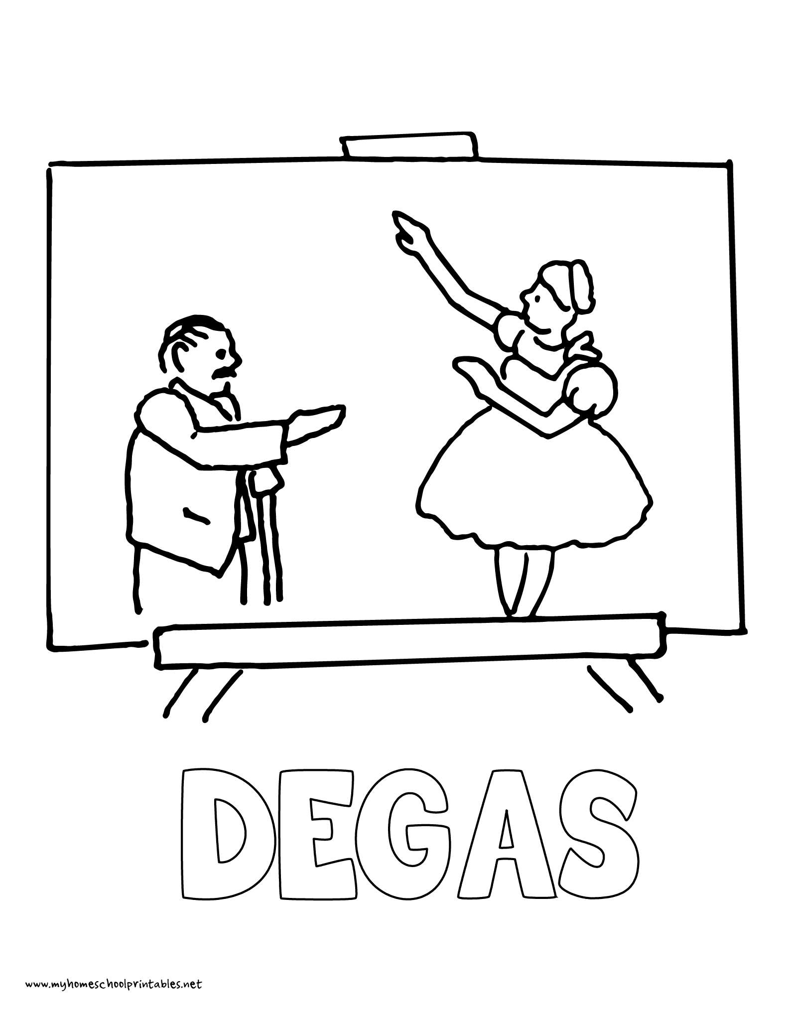 degas coloring book pages | My Homeschool Printables » History Coloring Pages – Volume 4