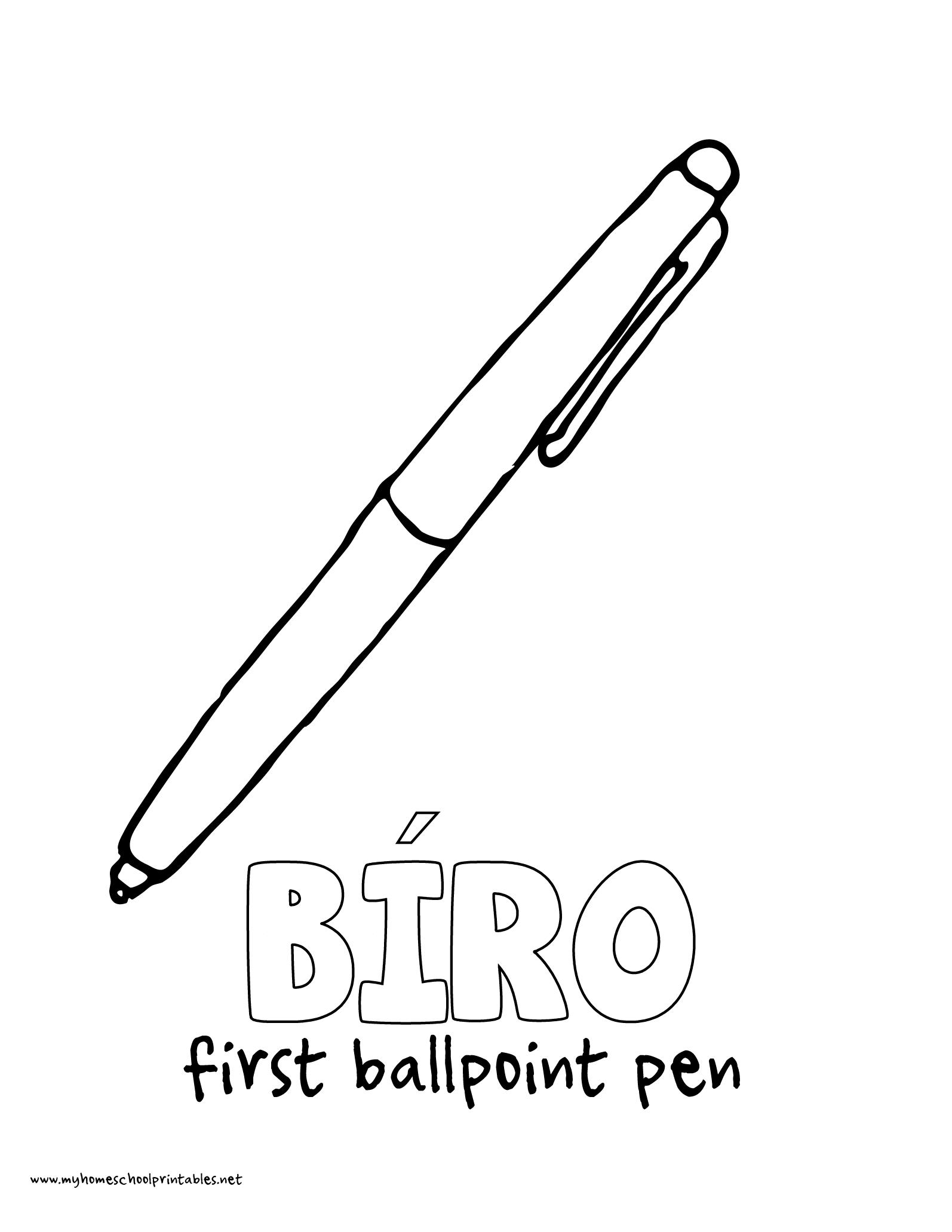 World History Coloring Pages Printables Biro Ballpoint Pen