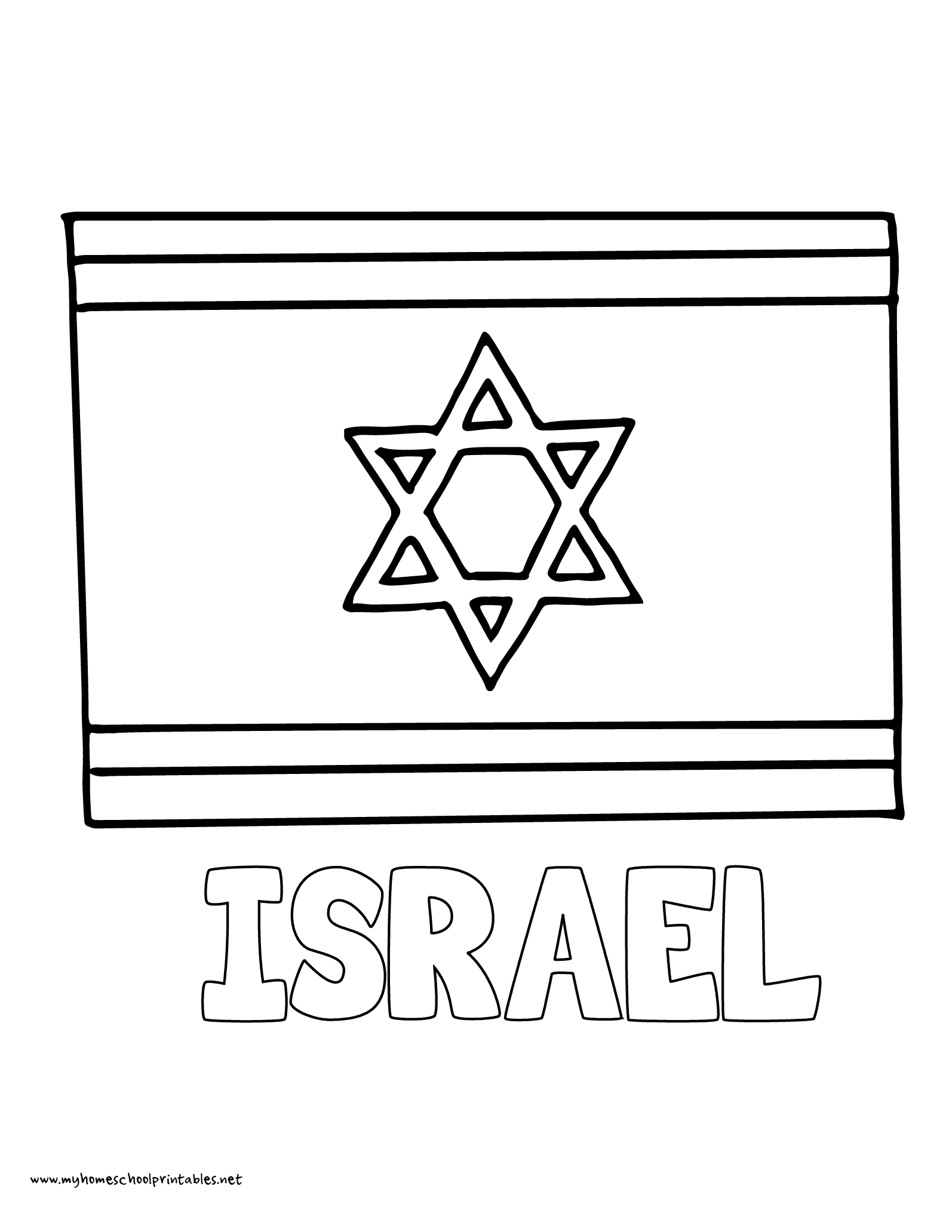 My homeschool printables history coloring pages volume 4 for Flag of israel coloring page
