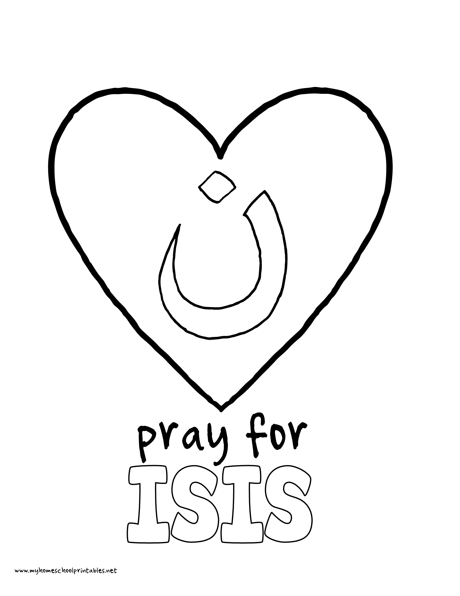 World History Coloring Pages Printables Pray for Isis I am N