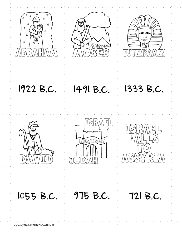 History Timeline Figures Printables Memory Game